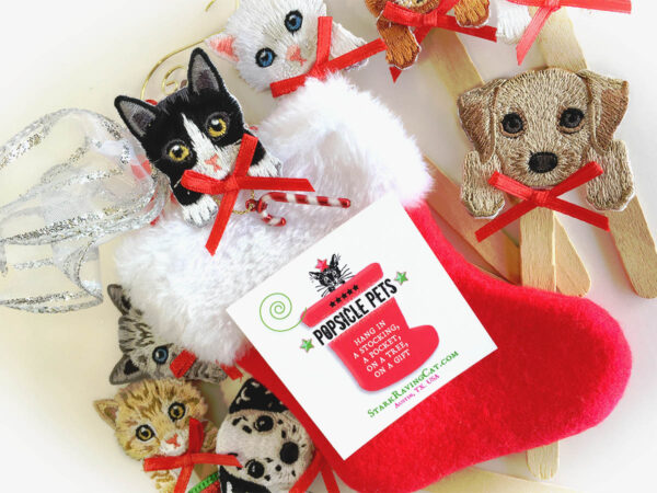 Popsicle Pets Stocking with Cat & Dog