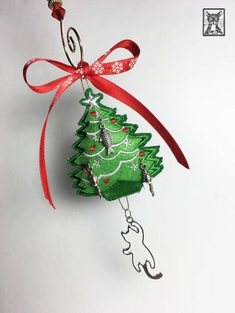 Christmas Tree Cat Ornament