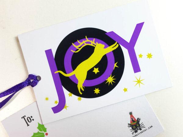 Joy Holiday Gift Tag