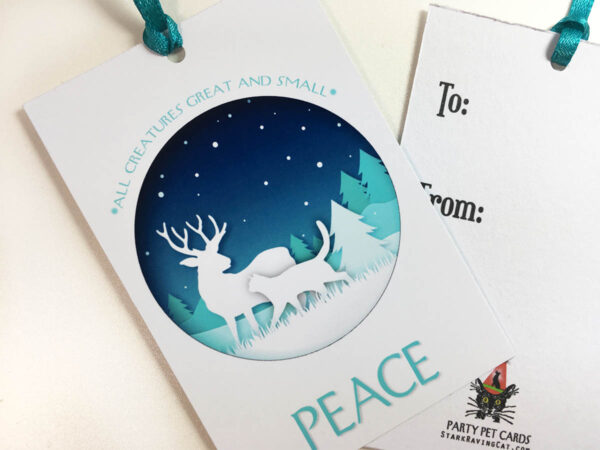 Peace Holiday Gift Tag