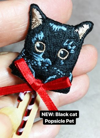 Popsicle Pets Black Cat