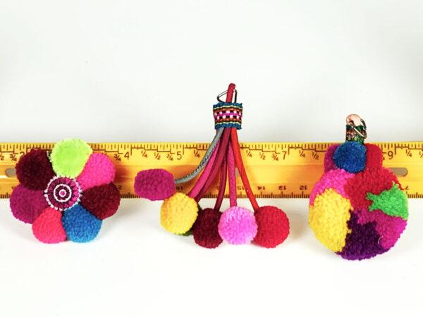 Thai Pompom Cat Toys & Ruler