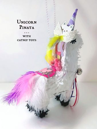 Unicorn Piñata Hanging w/text