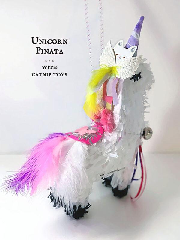 Unicorn Piñata Hanging w/text