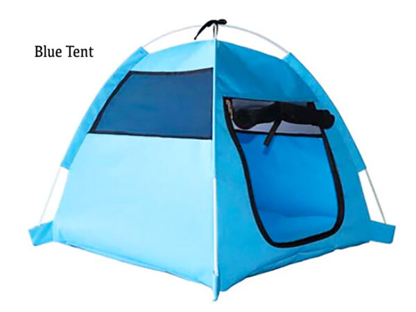 Blue Luxury Pet Tent for Cats or Dogs