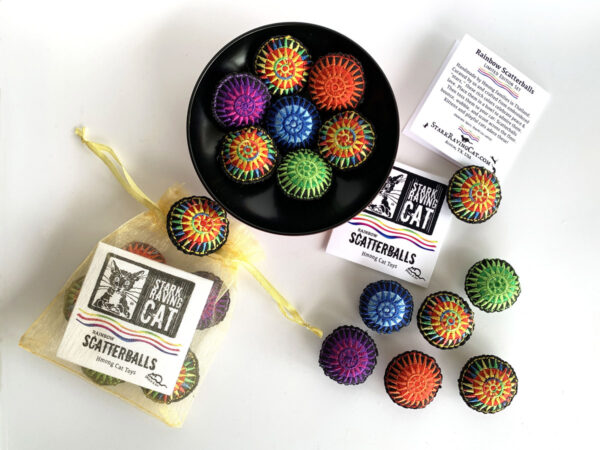 Rainbow Scatterballs Cat Toys