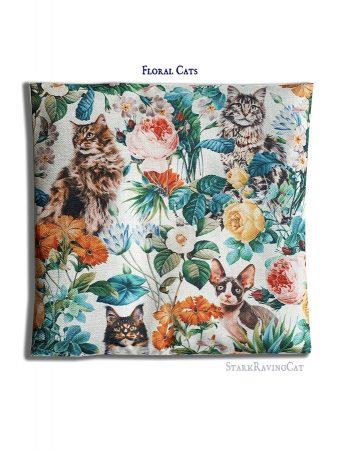 Floral Cats Mat Cushion