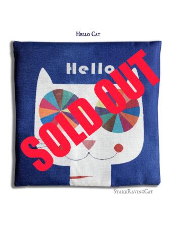 Hello Cat Head Mat Cushion