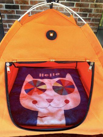 Hello Mat in Pet Tent