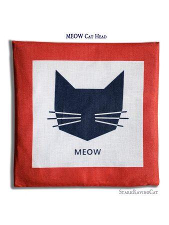 MEOW Cat Head Mat Cushion