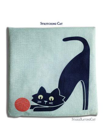 Stretching Cat Mat Cushion
