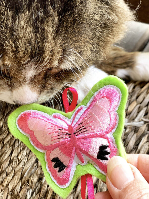 Tamale & Pink Butterfly Catnip Cat Toy
