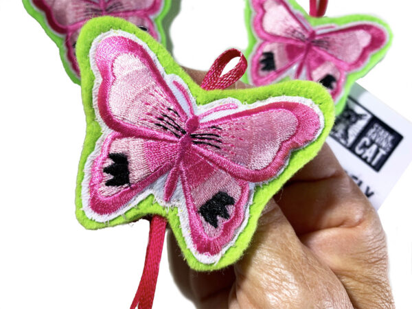 Pink Butterfly Catnip Cat Toy