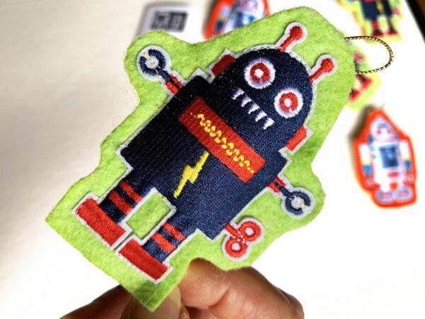 Retro Robots Catnip Toy
