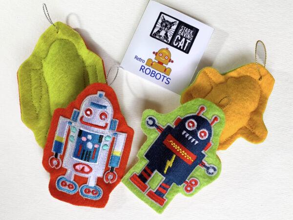 Retro Robots Catnip Toys