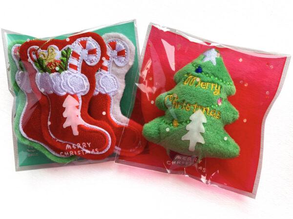 Christmas Tree and Stockings Catnip Toys