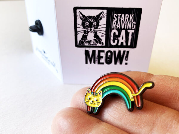Rainbow Cat Pin