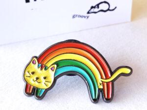 Rainbow Cat Pin