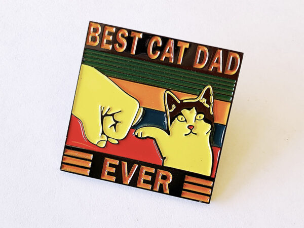 Best Cat Dad Ever Pin