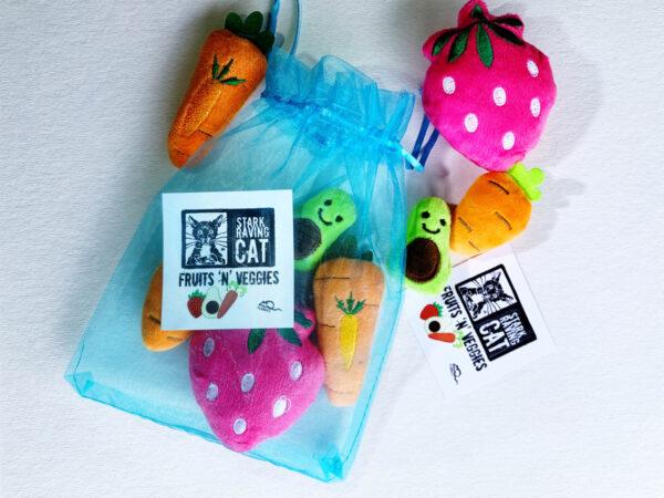 Fruits 'n' Veggies Cat Toy Set
